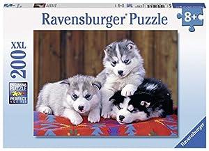 Ravensburger - Tres Cachorros de Husky, Rompecabezas de 200 Piezas (128235)