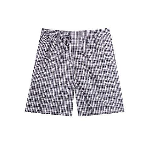 Pau1Hami1ton B-01 Herren Baumwolle BoxerShorts Karo Woven Boxer Shorts Unsichtbar Elastische Taille Unterhose Unterwäsche,1 Packung, 44 (Pink Boxer-mädchen-kostüm)