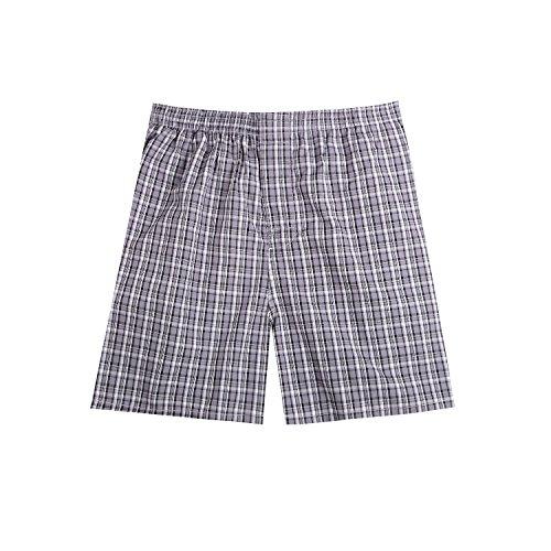 Pau1Hami1ton B-01 Herren Baumwolle BoxerShorts Karo Woven Boxer Shorts Unsichtbar Elastische Taille Unterhose Unterwäsche,1 Packung, 44 Farben(29#,XL) (Frozen Herren Kostüme)