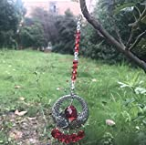 kanmeipp Hanging Crystal Angel Wing Pendant Crystal Ball Guardian Angel Prism Window Ornament C