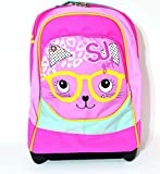 ZAINO BIG TROLLEY GIRL SJ GANG ANIMALI DA SJ FANTASIA GATTO ROSA CELESTE OFFERTA