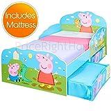 Lit Peppa Pig Toddler Avec Rangement + Matelas en Mousse