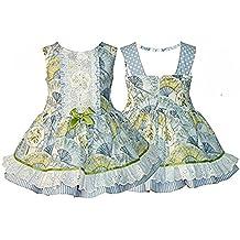 Envío GRATIS disponible. Alber Vestido Niña Estampado abanicos combinado