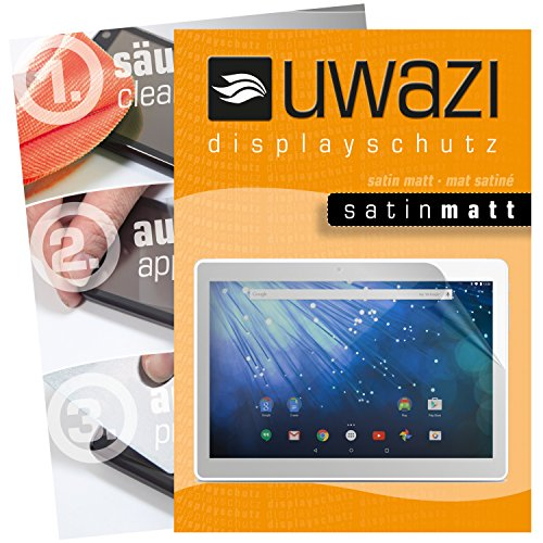 Trekstor Surftab breeze 10.1 quad 3G Schutzfolie 3x uwazi satin-matt Displayschutzfolie Folie