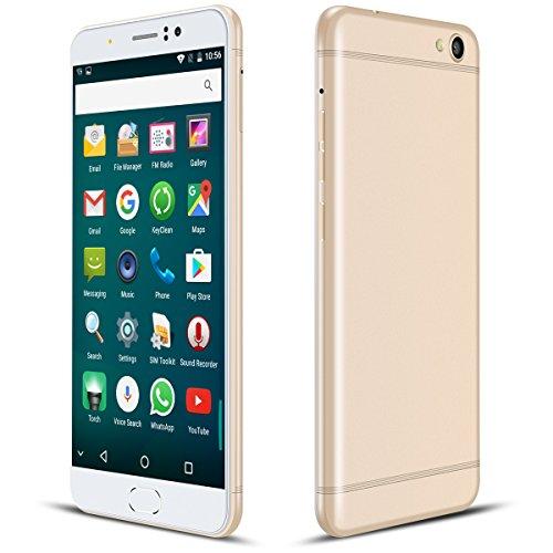 Téléphone Portable Debloqué, Padgene® R9 Smartphone 4G Téléphone Pas Cher - Double SIM - 6 Pouces Écran HD 1280*720 - Appareil Photo Avec Flash 8MP + 2MP - RAM 1Go + ROM 8Go - Quad Core MTK6737 - Batterie 2800mAh (Or)