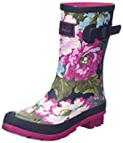 Joules Women's Molly Welly Wellington Boots, Blue (Exclusive Navy Floral), 6 UK 39 EU