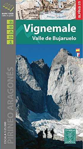 Vignemale-Bujaruelo, mapa excursioista. Escala 1:25.000. Editorial Alpina. (Cartografia Alpina) por VV.AA.
