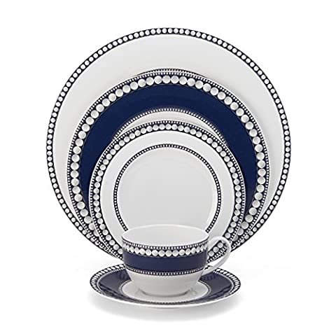 Mikasa Akoya Cobalt 5-Piece Place Setting Dinnerware Set, Service for 1