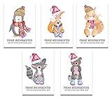 Weihnachtskarten Weihnachtskarten-Set (50 St.) Frohe Weihnachten Frohes neues Jahr