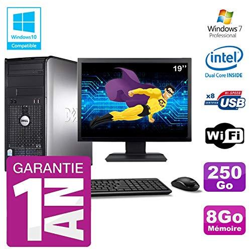 Dell PC 780 Desktop-Bildschirm 19 Zoll Intel E5800 RAM 8 GB Festplatte 250 GB DVD-Brenner WiFi W7 (Dell 780-desktop)
