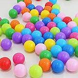 XDXDWEWERT Ca. 50 stücke 5,5 cm Farbe Spaß Ball Weichem Kunststoff Ozean Schwimmen Pit Spielzeug Ball für Baby Kinder (Bunte)