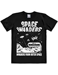 Logoshirt Space Invaders-From Outer Space, Chemise Casual Homme