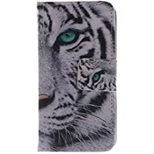 Coffeetreehouse - Bolso pequeño al hombro para mujer blanco (White Tiger) iPhone 4 /4S