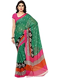 Anand Sarees Women's Raw Silk Saree With Blouse Piece (Ssc055_2,Green,Free Size)