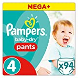Pampers Baby-Dry Pants Gr.4, 8-15 kg, 94 Windeln, 94 Stück, 1 Packung=1 Impfdosis