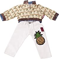 Gotz 3402925 Standing Doll Combo Pineapple Punch - Size XL - Dolls Clothing / Accessory Set - Suitable For Standing Dolls Size XL (45 - 50 cm)