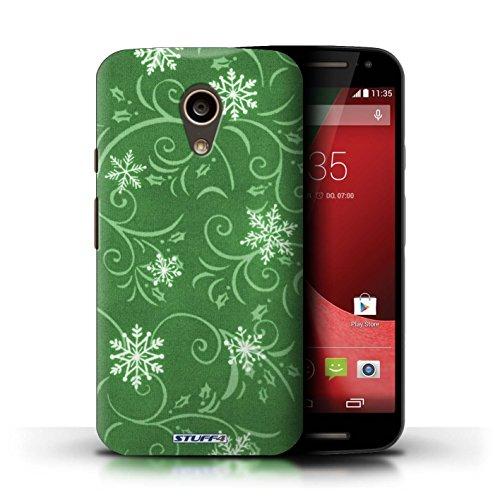 Kobalt® Imprimé Etui / Coque pour Motorola Moto G (2014) / Pourpre conception / Série Motif flocon de neige Vert