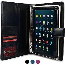 Funda para Samsung Galaxy Tab S2 9.7 con cuaderno, COOPER FOLDERTAB Carcasa tipo cartera con planificador, libreta y bolsillos para zurdos y diestros (Negro)