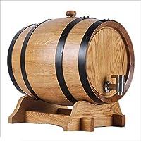 Barril de vino Multifuncional Roble, 5L-10L Vino Blanco Tinto Decoración del hogar Barril de Cerveza Color Madera (Tamaño : 10L)