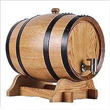 Barril de vino Multifuncional Roble, 5L-10L Vino Blanco Tinto Decoración del hogar Barril