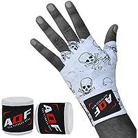 Vendas para usar debajo de los guantes de boxeo, ideales para prácticas de artes marciales como Muay Thai, MMA y UFC, de 4metros, de la marca AQF , Death Skull