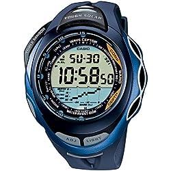 CASIO Sport Sea Pathfinder SPW-1000-2VER - Reloj de caballero de cuarzo, correa de resina color varios colores (con radio, sensor de profundidad, cronómetro, alarma)