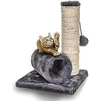 Sisal-Kratzbaum für kleine Kätzchen von Fineway, mit Tunnel & einer Maus zum Spielen
