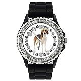Timest - Foxhound Americano - Reloj de Silicona negro para Mujer con Piedrecillas Analógico Cuarzo SGP028