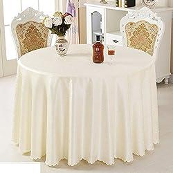 GXX Mantel tela del hotel/mantel para restaurante de estilo de europa/ paño de tabla del salón/Paño de la mesa redonda-C diámetro160cm(63inch)