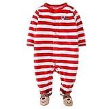 Vine Baby Strampler Schlafanzug Overall Weihnachten Hirsch Langarm Schlafstrampler