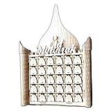 Moonbird Holz MDF Muslim Eid Mubarak Zeichen Adventskalender Countdown Haus Schublade Party DIY Dekoration
