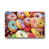 Mugod Fußmatten Colorful Donuts Hintergrund Fußmatte/Gate Pad Außen/Innen Badezimmer Küche Decor Bereich Teppich/Fußmatte 59,9x 39,9cm