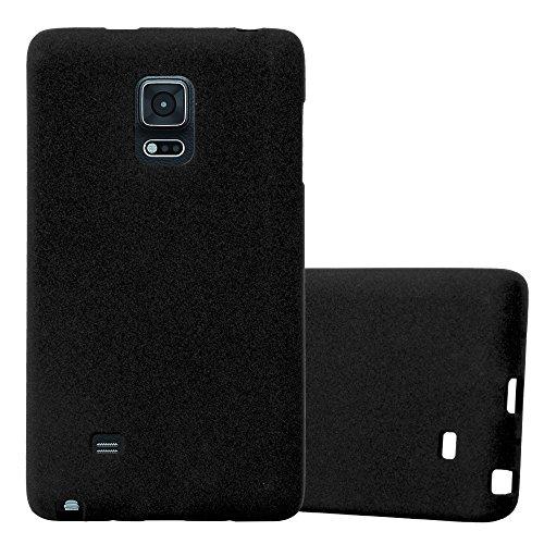 Cadorabo Hülle für Samsung Galaxy Note Edge - Hülle in Frost SCHWARZ – Handyhülle aus TPU Silikon im matten Frosted Design - Silikonhülle Schutzhülle Ultra Slim Soft Back Cover Case Bumper