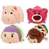 New 4pc Mini Tsum Tsum Plush Set: Buzz, Woody, Lotso and Hamm From Toy Story 3.5 by Tsum Tsum Plush