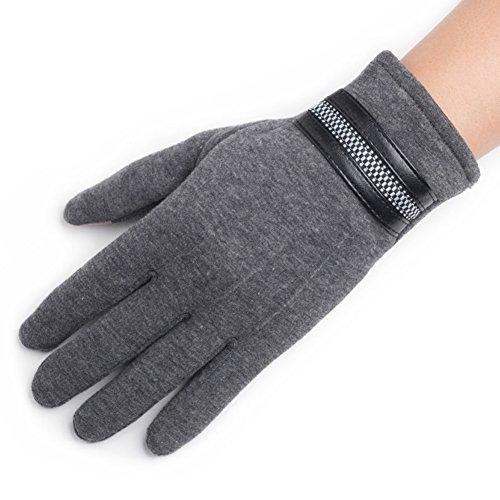 Gant de velours pour hommes coréens/ gants de vélo/Gants chauds et velours/ touch gants de coton A