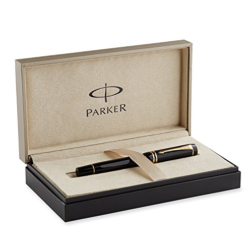 Stunning craftsmanship based on a classic style established in 1921. Every Parker Duofold is finished by hand and precision-crafted from a solid block of hand-cast acrylic. Solid gold nib with rhodium highlights is hand-polished and manually assemble...