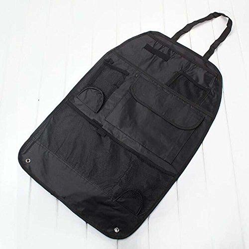 Preisvergleich Produktbild Alger 2Stück Auto Rückenlehne Aufbewahrungstasche zum Aufhängen Tasche Mehrzweck-Aufbewahrungsbox faltbar Esstisch, beige
