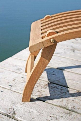 Teakholz Deck Chair mit Armlehne, 60x93x150cm, 75% maschinengefertigt, 25% Handarbeit, ofengetrocknet, aus nachhaltig bewirtschafteten Plantagenbau