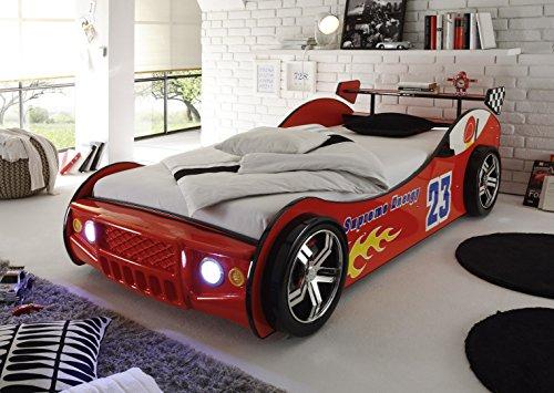 Autobett Lotus mit LED Beleuchtung Auto Bett Kinderbett Kinder