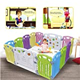 Baby Playpen Kids Activity Centre Safety Play Yard Home (Classic set 14 panel)