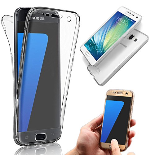 Coque Samsung Galaxy J5 (2015 Version) TPU Case Cover Absorption de Choc Hull, Vandot Samsung Galaxy J5 (2015 Version) Etui Silicone Souple Transparente Case Très Légère Housse Ajustement Parfait Coqu Transparent-Blanc