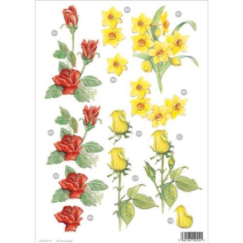 Craft uk 116 carta per decoupage da ritagliare soggetto for Carta decoupage