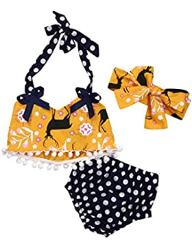 Baby sets Koly_Neonata infantile floreale nappa CropTop + Dot Pants Shorties Outfits vestiti Set