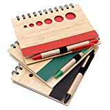 #8: Kurtzy Diary Ruled Spiral Writing Notebook with Pen Wood Finished Cover 70 Pages (Pack of 3)