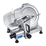 Royal Catering Trancheuse À Jambon Saucisson Multi-Usage Universelle RCAM-250PRO (Lame ø 250 mm, Puiss. 180 W,...