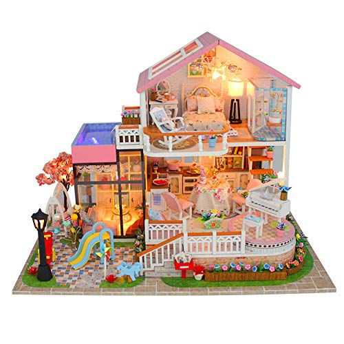 llhouse DIY House Modell 3D Montieren Spielzeug Geschenk Geburtstag für Kinder ()
