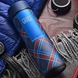 The Purple Tree Double Wall Vacuum Flask Insulated Thermos Travel Stainless Steel Water Bottle (Pack Of 1) With Strainer BPA Free- 500 ML Capacity Leak Proof Sipper , Hot And Cold Water Bottle For Upto 12 Hours. (Midnight Blue -Grace)