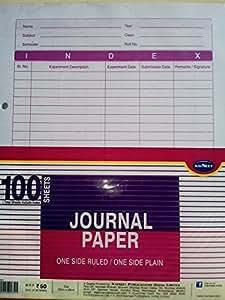 Navneet Journal Paper (1side ruled/1side plain 100 sheets)