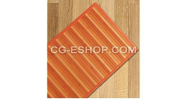 Confezioni Giuliana Tappeto Bamboo sfumato passatoia Cucina e Multiuso cm 55x240 Arancio giallino