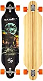 Deluxe Longboard Maxofit Mammut No.15, 103 Cm 9 Strati Di Acero Canadese, Drop Through